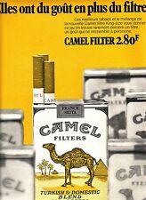 PUBLICITE ADVERTISING 034 1971 CAMEL  cigarettes