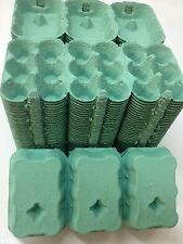 24 X CARDBOARD EGG BOXES 1/2 DOZEN CARTON PACKAGING GREEN FOR CHICKEN DUCK HEN