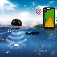 NEW Professional Fish Finder Portable Wireless Sonar 48M Depth Lake Fish Detect