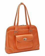 McKlein USA Avon Leather Ladies Briefcase Orange 96650