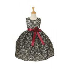 Wonderful Cinderella Couture Satin Strip Floral Bouquet Lace Flower Girl Dress