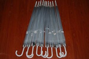 Lot Of 50pc New Clear Auto Open Umbrella WHOLESALE Free Shipping