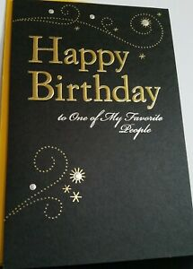 "Happy Birthday Card To ""One Of My Favorite People"" By:  American Greetings"