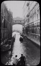 Glass Magic Lantern Slide VENICE THE BRIDGE OF SIGHS C1910 PHOTO ... ITALY
