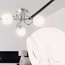 NEU Design Deckenleuchte Kugel Flur Leuchte Chrom Deckenlampe Bad Glas-Leuchte