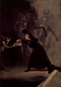 Francisco de Goya - Witch Vintage Fine Art Print