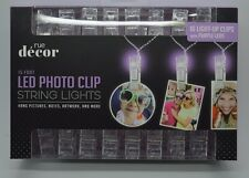 16 Light Up Hanging Photo Notes Artwork Clips With Purple Led String Light #150