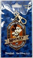 NEW Disney Parks Mickey Mouse King of Cheers Lanyard Medal Trading Clip