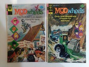 MOD WHEELS #18 & 19, Race Cars, Gold Key Comics 1975