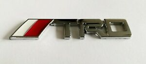 TOYOTA TRD 3D METAL BADGE LOGO EMBLEM STICKER GRAPHIC DECAL TUNING SPORTS SILVER