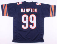 Dan Hampton Signed Autograph Blue Football Jersey BECKETT COA Bears Great