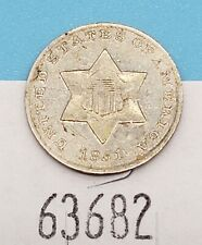 West Point Coins ~ 1851 $0.03 Three Cent Silver Coin