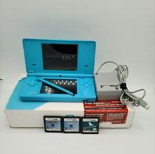 Nintendo DSi Blue With Stylus Charger 3 Petz Games Original Box Tested & Working