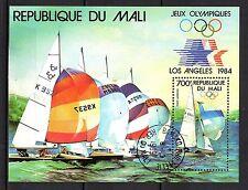 0144++MALI   BLOC JO  LOS  ANGELES 84  VOILIERS
