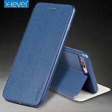 DE LUJO X-Level FUNDA con Tapa Delgado Soporte Carcasa Para iPhone X 7 8 Plus