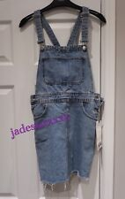 4e98bc6e Denim Zara Blue Pinafore Dress XS Extra Small 6 New