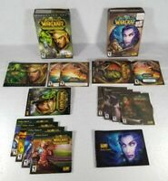 Lot Of 2: World of Warcraft 2004 And 2006 Burning Crusade W/ Discs & Manuals