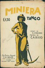 Spartito musicale MINIERA tango versi Cherubini musica Bixio