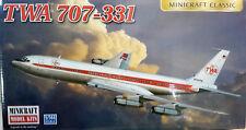 1/144 Scale Minicraft Models 'TWA 707-331' Kit #14651