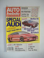 AUTO HEBDO n°643 SPECIAL AUDI-AUDI 200 QUATTRO RECORD-AUDI 80 TURBO D