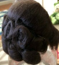Dollspart Size 7 Wig, Mohair Princess Dark Brunette in plastic and box