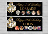 Birthday Party Banner 18th/21st/30th/40th/50th/60th Black Balloons decoration