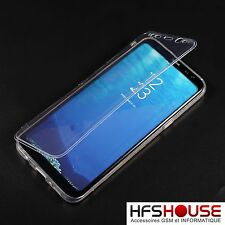 POUR SAMSUNG GALAXY S8 COQUE HOUSSE ETUI INTEGRAL TRANSPARENT SILICONE GEL CASE