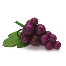 Wooden pretend role play food (Erzi) play kitchen, shop: Grapes purple red Fruit