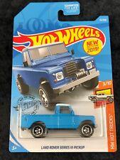 Hot Wheels 2019 HW Hot Trucks Blue Land Rover Series III Pickup