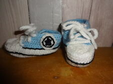 Hand made baby booties 3-6 mths Yellow/Blue