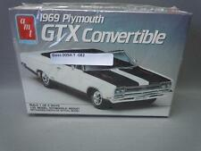 AMT 1969 Plymouth GTX Convertible Toy Car Model Kit # 6428 Opened