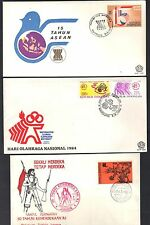 INDONESIA 1990's COLLECTION OF 9 FDC's DIFFERENT ISSUES & CACHETS