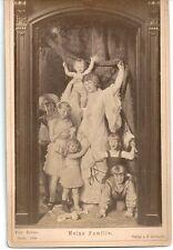 Altes CDV Foto Meine Familie 1883