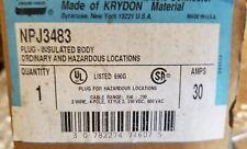 NPJ3483 CROUSE HINDS 30 AMP ARKRITE PLUG