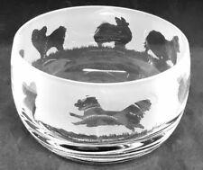 More details for papillon frieze 12cm boxed crystal glass bowl