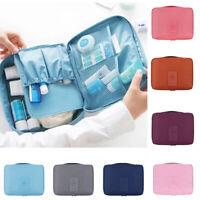 Women Travel Cosmetic Portable Bag Makeup Storage Small Bag Zipper Oxford Cloth
