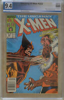 UNCANNY X-MEN #222 (1987) PGX 9.4 (NM) Like CGC White Pages - NEWSSTAND EDITION
