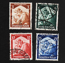 1935 Germany Return of Saar Set Sc#448-451 Mi#565-569 Used