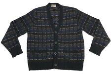 RARE Vintage Tundra Canada Wool Cardigan Men Sz Large Biggie Coogi-Style Sweater