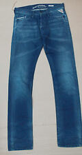 Replay Waitom Slim Herren Jeans > OVP > £ 140 > 31w 36L > 31 36 > Blau > Original
