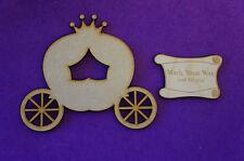 Fairytale Princess Pumpkin Carriage C 10cm/100mm - Craft Embellishment MDF