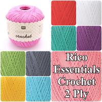Rico Essentials Crochet Cotton 2 Ply 50g Knitting Crochet Yarn