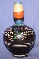 Vintage hand painted glazed pottery pitcher jug