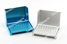 4PCS 58 Holes Dental Burs Holder Block ALUMINIUM Autoclave Disinfection Boxes