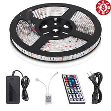 Kitchen Under Cabinet 300 LED Light Strip RGB SMD Kit IR Remote 12V Power 16.4ft