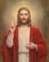 """Catholic print picture- SACRED HEART 33 -   8"""" x 10"""" ready to be framed"""