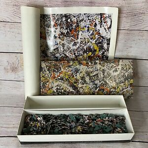 Vintage Jackson Pollock Convergence Puzzle 340 Piece Jigsaw w/Poster Springbok