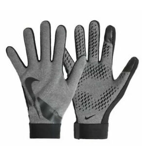 Nike CU1589-050 Men's Sz Medium Hyperwarm Academy Football/Soccer Gloves Gray