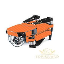 SopiGuard Orange Carbon Skin Wrap Battery Controller for DJI Mavic Pro