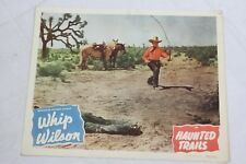 """New listing Whip Wilson Haunted Trails Original Movie Lobby Card 11"""" x 14"""" Country 1949"""